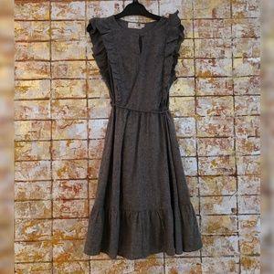 Everleigh gray ruffled sleeveless dress